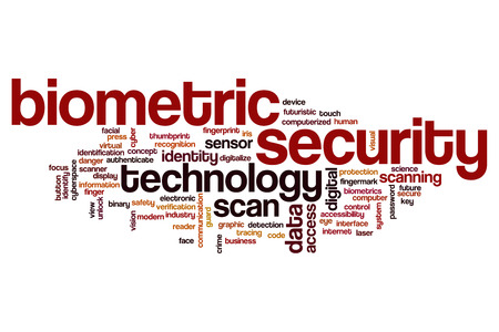 Biometric security word cloud concept
