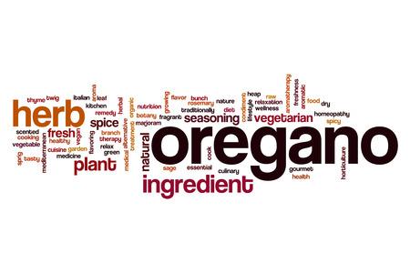 oregano: Oregano word cloud concept Stock Photo