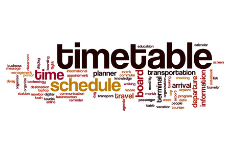 timetable: Timetable word cloud concept