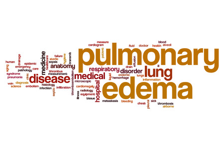 pulmonary: Pulmonary edema word cloud concept