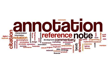 annotation: Annotation word cloud concept