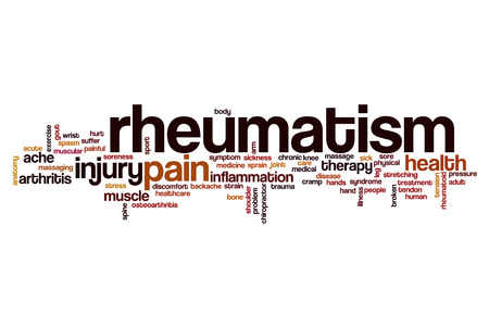 Rheumatism word cloud concept Reklamní fotografie