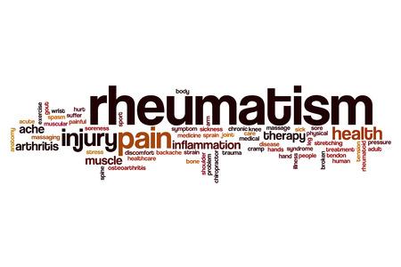 Rheumatism Wort Cloud-Konzept Standard-Bild