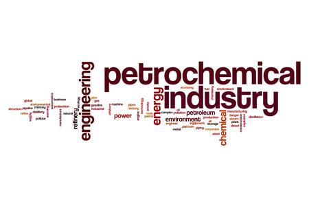 industria petroquimica: industria petroquímica concepto de nube de palabras