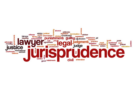 jurisprudence: Jurisprudence word cloud concept