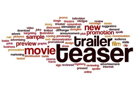 spoilt: Teaser word cloud concept Stock Photo