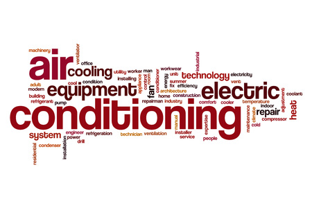 Air conditioning word cloud concept