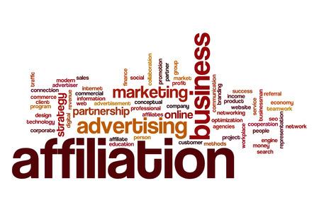 affiliation: Affiliation word cloud concept