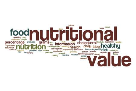 grasas saturadas: Valor nutricional concepto de nube de palabras Foto de archivo