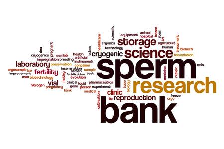 semen: Sperm bank word cloud concept Stock Photo