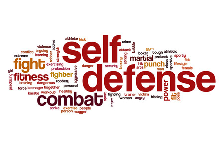 Self defense word cloud concept