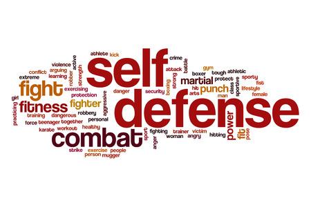 Zelfverdediging word cloud concept