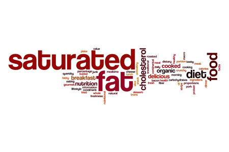 saturated: Saturated fat word cloud concept