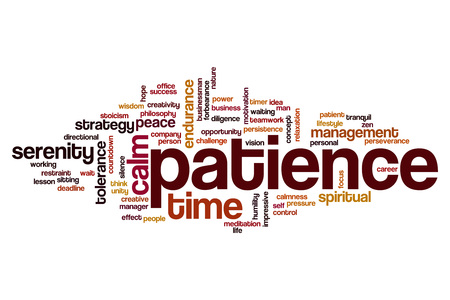Patience word cloud concept
