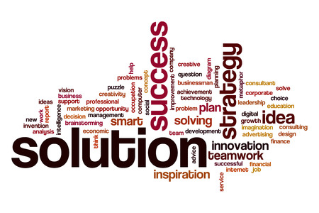 solution: Solution word cloud concept