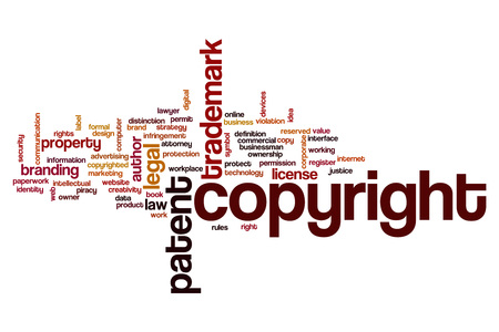 commercial law: Copyright word cloud concept