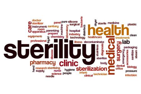 sterility: Sterility word cloud concept
