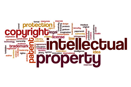 property: Intellectual property word cloud concept