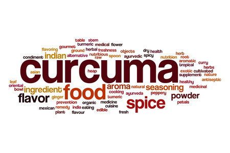 curcuma: Curcuma word cloud concept Stock Photo