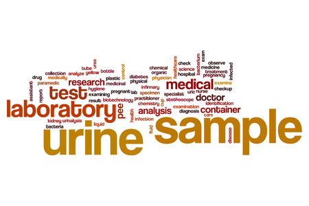 Urine sample word cloud concept