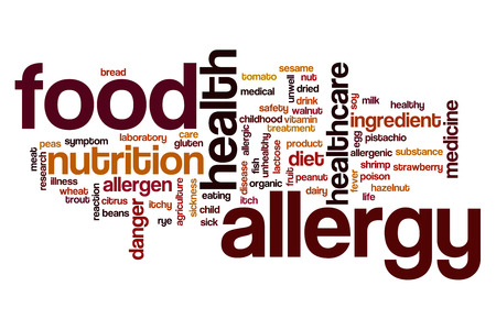 food allergy: Food allergy word cloud concept