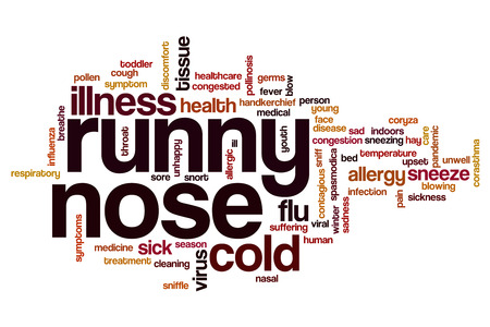 runny: Runny nose word cloud concept