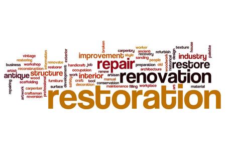 restoration: Restoration word cloud concept