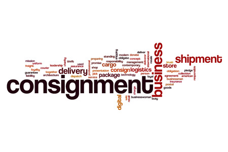 Consignment word cloud concept Stock Photo