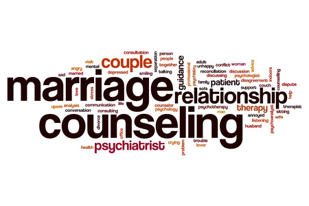 marriage counseling: Marriage counseling word cloud concept
