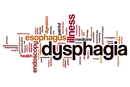 Dysphagia word cloud concept Stock Photo