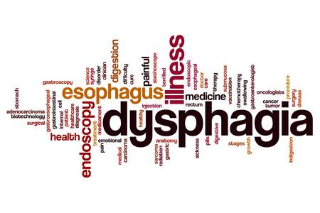 endoscopic: Dysphagia word cloud concept Stock Photo