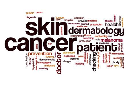 birthmark: Skin cancer word cloud concept