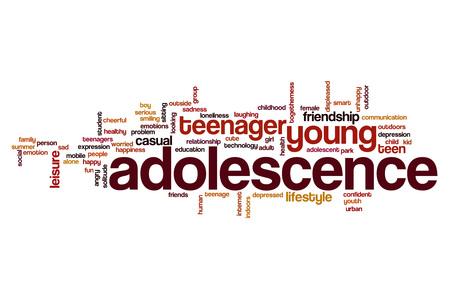 adolescence: Adolescence word cloud concept