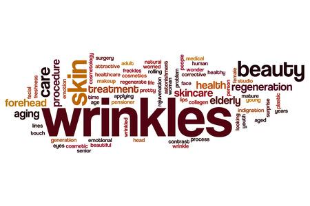 arrugas: Arrugas concepto de nube de palabras
