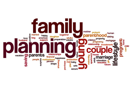 family planning: Family planning word cloud concept