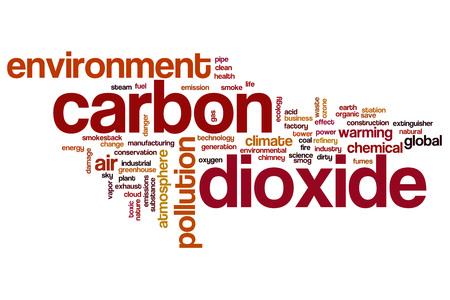 dioxide: Carbon dioxide word cloud concept
