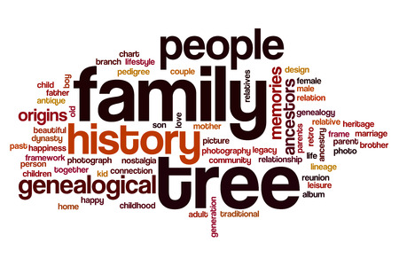 Family tree word cloud concept