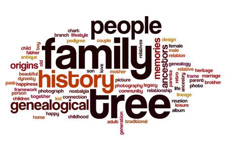 Famille notion arbre mot nuage Banque d'images - 61761744