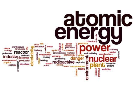 atomic energy: Atomic energy word cloud concept