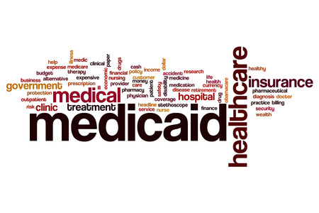 Medicaid word cloud concept Stock Photo - 61761844