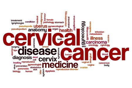 cytology: Cervical cancer word cloud concept