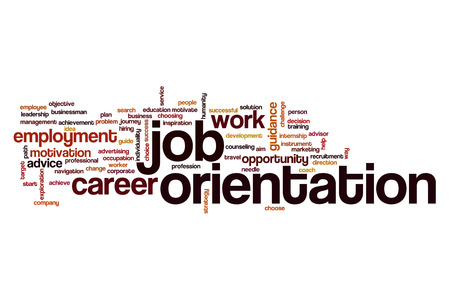 orientation: Job orientation word cloud concept