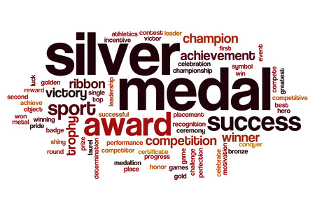 silver medal: Silver medal word cloud concept Stock Photo