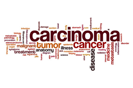carcinoma: Carcinoma word cloud concept Stock Photo