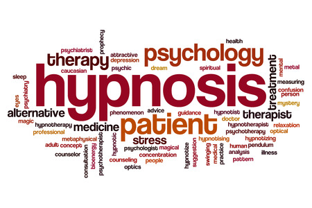 Hypnosis word cloud concept
