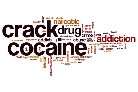 meth: Crack cocaine word cloud concept Stock Photo