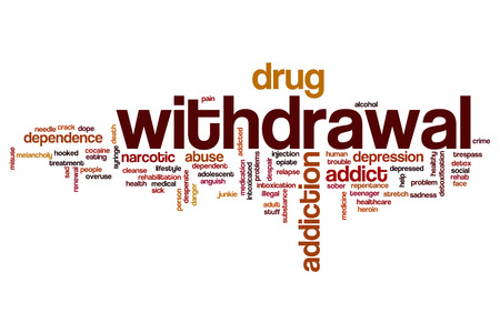 Withdrawal word cloud concept Stock Photo