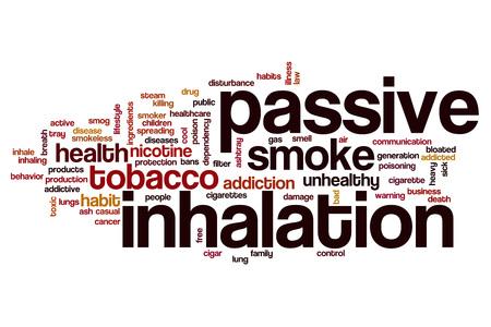 inhalation: Passive inhalation word cloud concept Stock Photo
