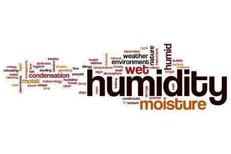 Luftfeuchtigkeit Wort Cloud-Konzept