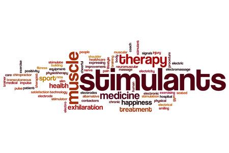 stimulator: Stimulants word cloud concept Stock Photo